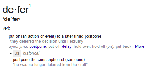 Defer Definition