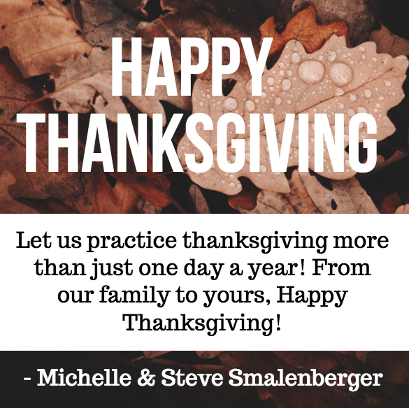 Financial Design Studio Thanksgiving Message