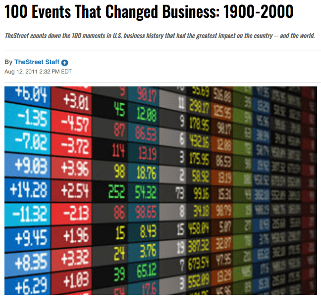 Investment Crisis Anniversaries to Remember College investment choices 100 investment crisis
