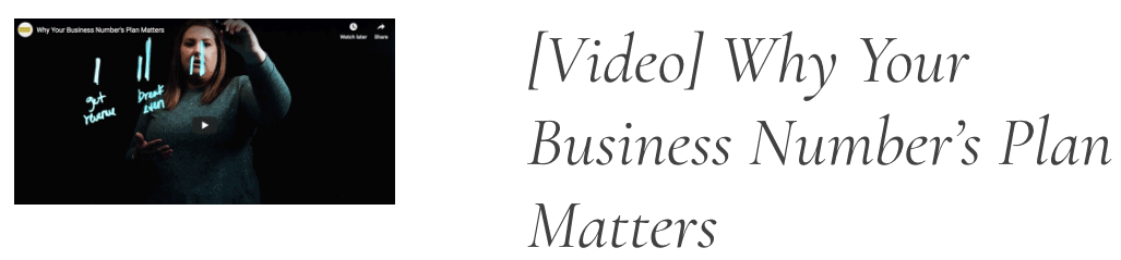 Financial Design Studio Business Number's Plan Matters