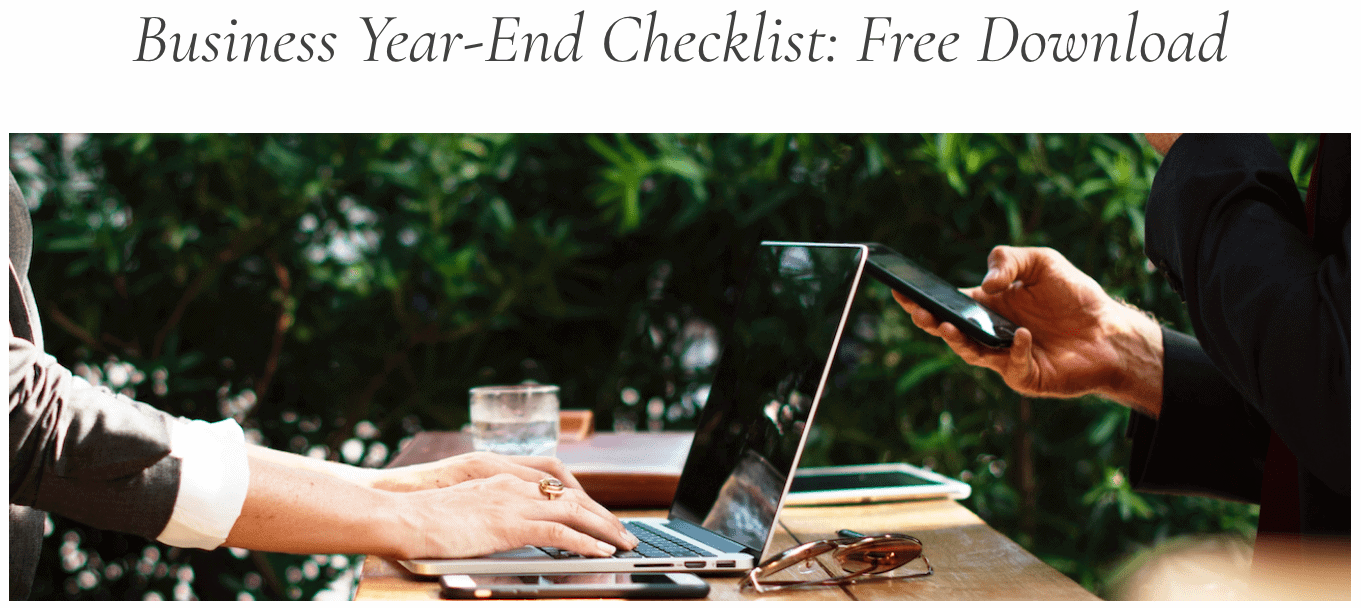 Financial Design Studio Business year end checklist free download