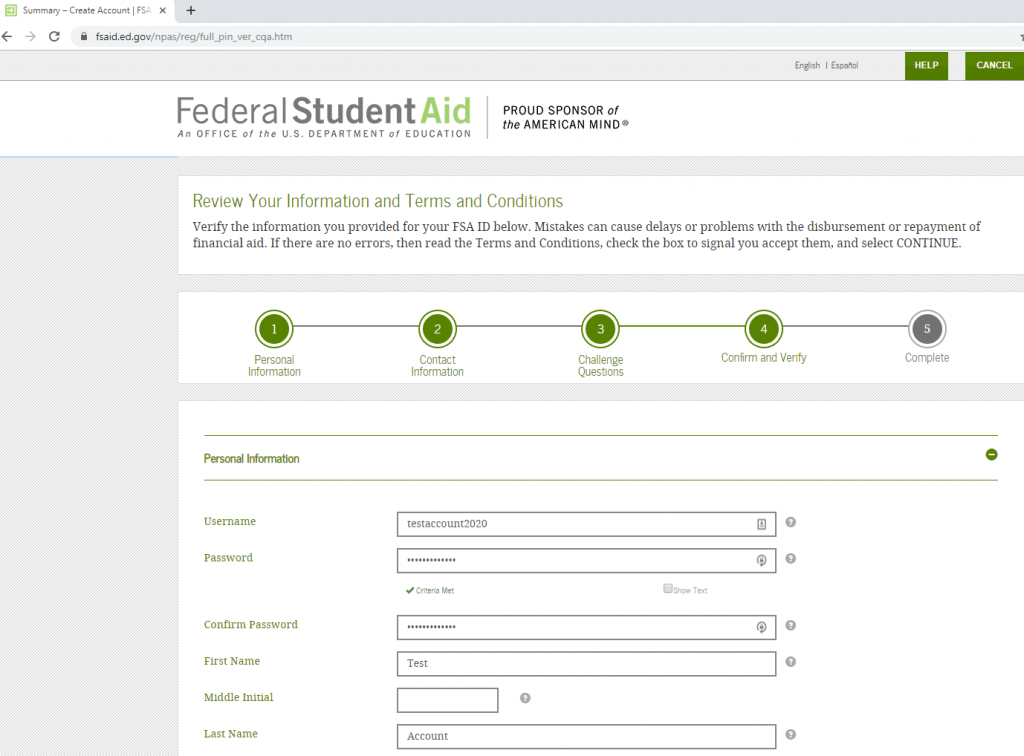 Filling Out The FAFSA: Getting Your FSA ID | Financial Advisor, Deer Park, Barrington