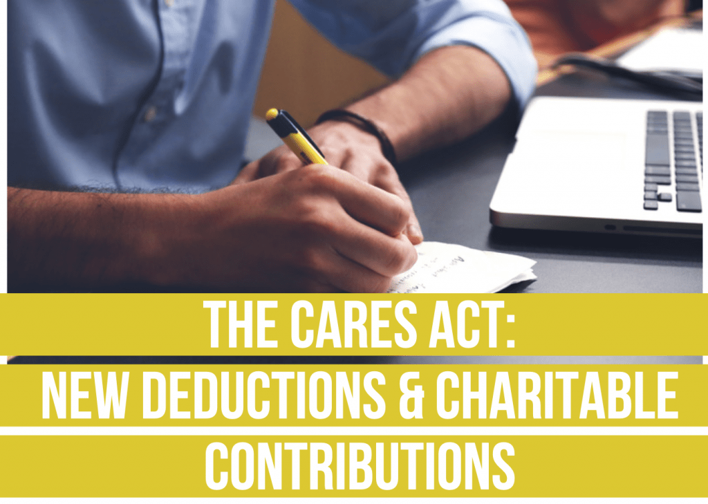 The CARES Act- new Deductions & Charitable Contributions Fee only financial advisor deer park barrington chicago draft