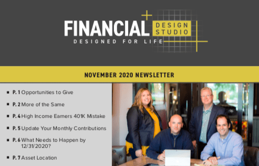 Financial Design Studio Financial Planning & Investment Newsletter November 2020