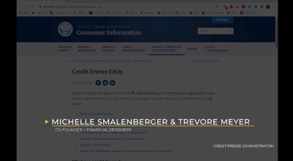 Freeze My Credit Demonstration