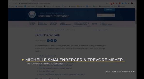 Freeze My Credit Demonstration