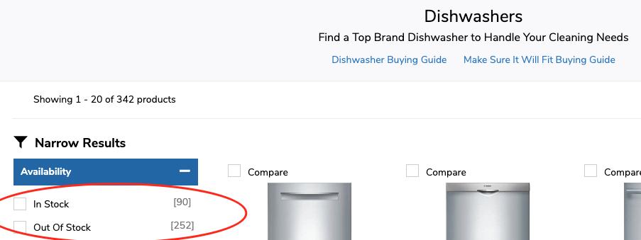 global chip shortage affects dishwashers
